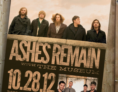Ashes Remain Rock Concert Poster