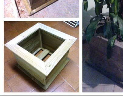 Homemade Wooden Cachepot