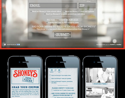 Shoneys Starting Fresh Website