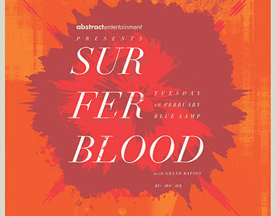 Surfer Blood - Gigposter for Sacramento