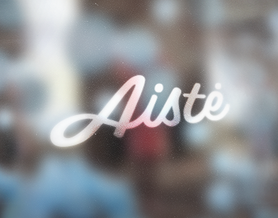 Aiste calligraphic mark and visual identity
