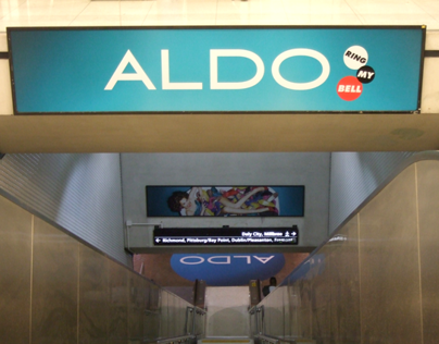 ALDO Subway Station Domination
