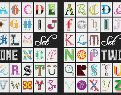 Illustrated Initials (Sets 1 - 6)