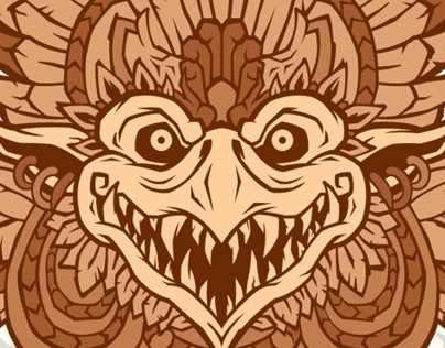 Logo for tattoo studio Garuda