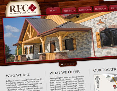 Richardet Floor Covering Website