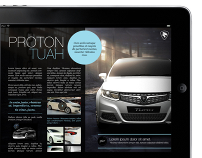 PROTON Quarterly iPad Magazine (Proposal)