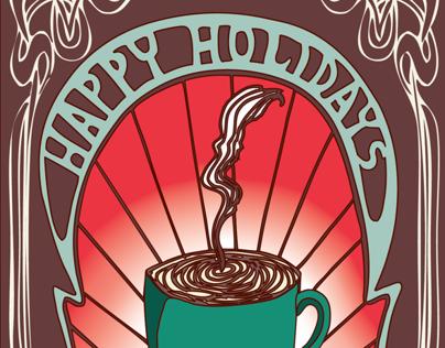 Art Nouveau Holiday Cards