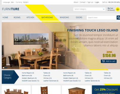 Furniture eCommerce layout
