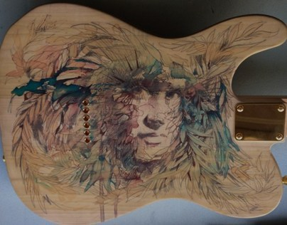 Marlow Custom Art Guitar with Art by Carne Griffiths