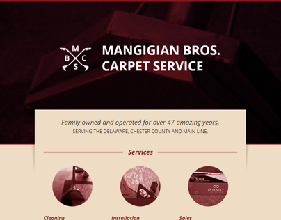 Mangigian Bros. Carpet Service Website