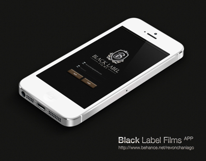 Black Label Films - Log in App ( Concept )