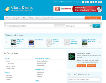 Remix ClassiPress Child Theme