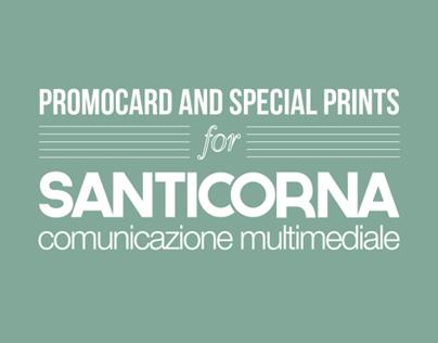 SANTICORNA | studio Promocards and special prints