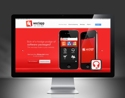 Website Design Weclapp