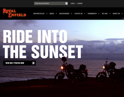 Royal Enfield Official Site Design