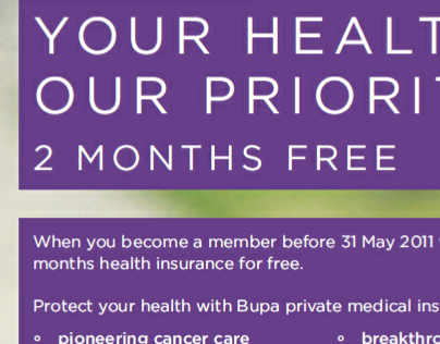 BUPA - national press, copy
