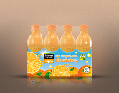 MinuteMaid Teppy Packaging Tet Vietnam 2013