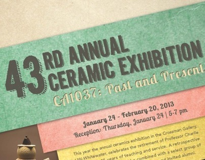 Ceramic Exhibition Poster and Mailer