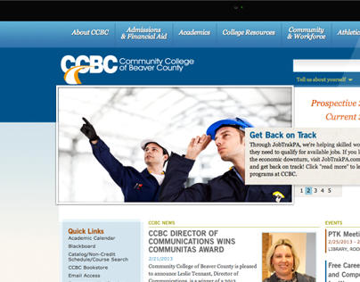 CCBC | Site Re-design