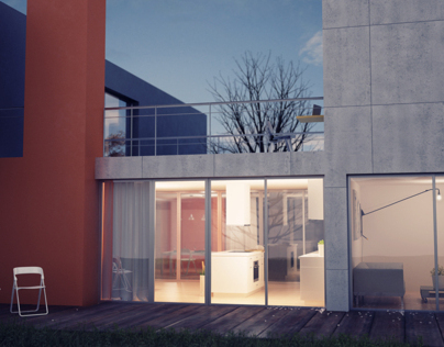 3d exterior house visualization