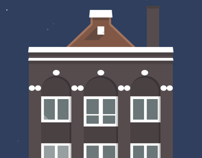 Amsterdams Buildings Illustration