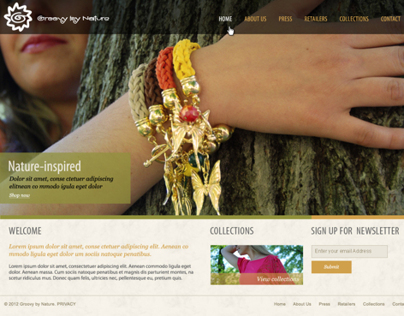 Groovy by Nature - web design