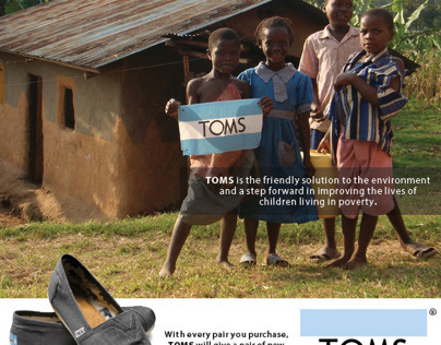 TOMS Shoes Magazine Advertisement