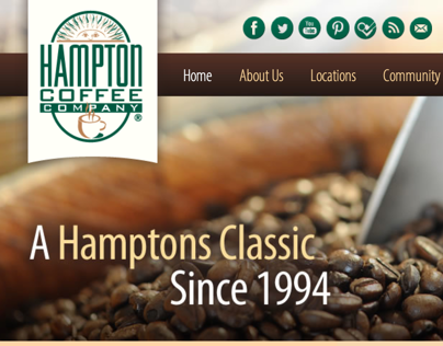 Hampton Coffee Company Website Development