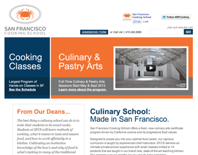 San Francisco Cooking School Web Development