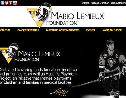 Website and Logo design for Mario Lemieux Foundation