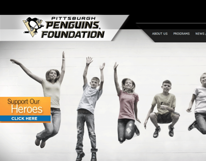 Website design for Pittsburgh Penguins Foundation