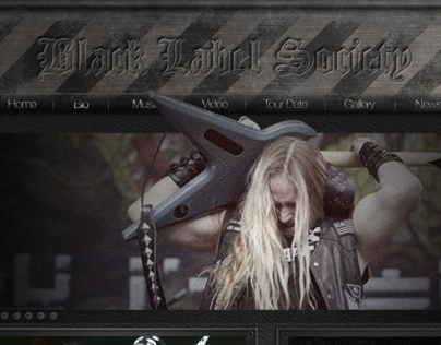 BlackLabelSociety Web Design