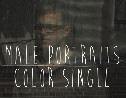male portraits color single
