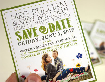 Meg & Andy Nollman - Save the Date Cards