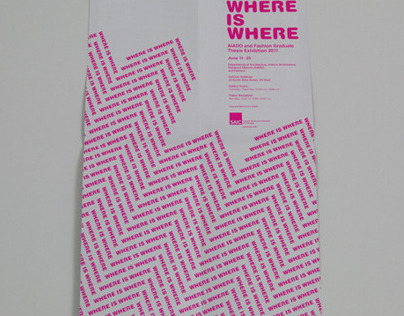 Where Is Where Exhibition Pamphlet/Poster