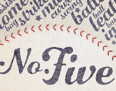 Number Five • A script font by Laura Worthington