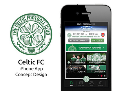 Celtic Fc iPhone App Concept