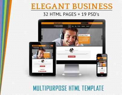 Elegant Business - MultiPurpose Responsive Web Template
