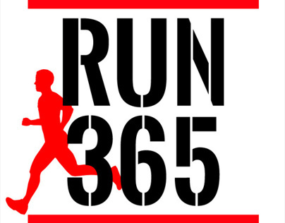 Run 365 - T-shirt design