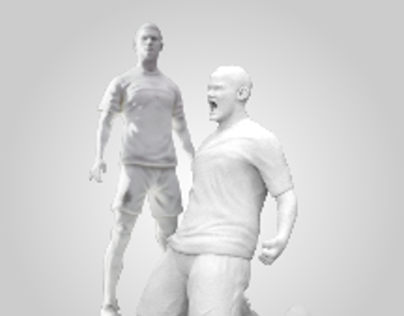 Nike Football Players Sculpture