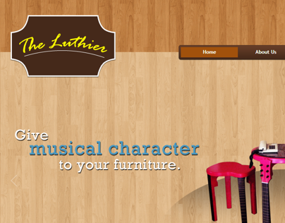The Luthier Furniture Web Design