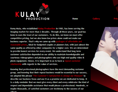 Kulay Prodcution Web Design