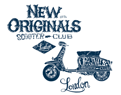 New Originals Scooter Club Branding