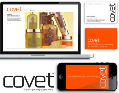Covet / Logo design / Brand identity / Print + digital