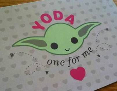 Yoda Valentine's Day Card