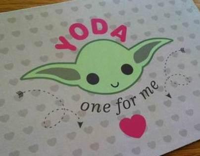 Yoda Valentine's Day Card
