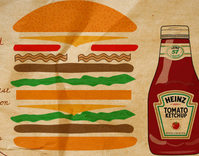Do your own hamburger with Heinz ketchup