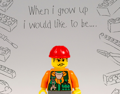 Lego YCN (part 1) - 'When i grow up' poster campaign