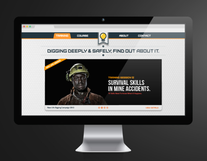 "Website design: ""New Life Digging"" campaign"