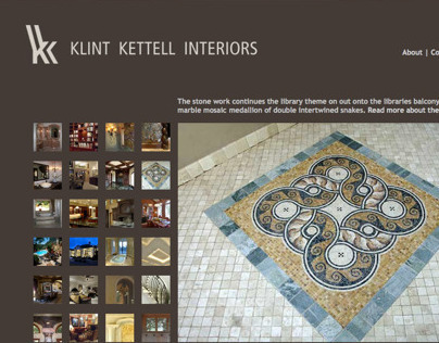Klint Kettell Interiors | website design